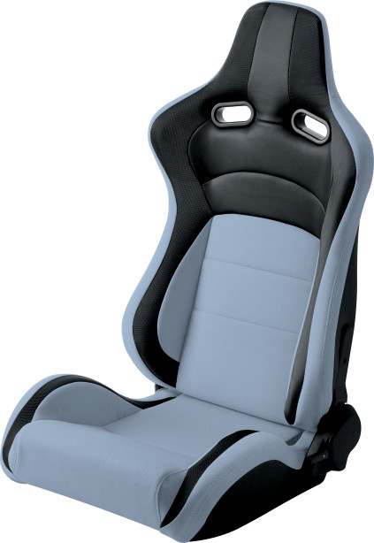 Grey Fabric Sport Racing Seats , Custom Leather Racing Seats Comfortable Feeling